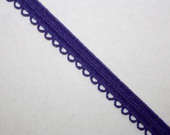 Purple Stretch Trim Per Yard