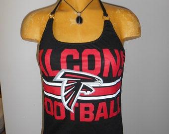 Atlanta Falcons halter top Reconstructed Football DIY