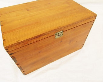 Lined wood box Etsy
