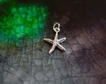 Starfish Charm - Sterling Silver Starfish Charm - Beach Charm - Ocean Charm - Silver Starfish Charm - Beach Theme Jewelry - Beach Lover Gift