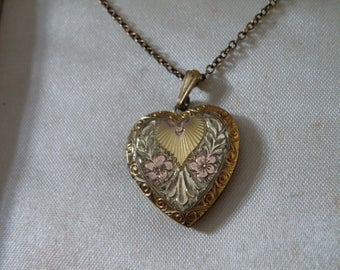 Etched Gold Filled Locket Necklace - 18 inch