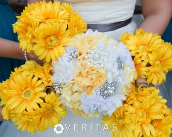 Bridal Fabric Brooch Bouquet /  Brooch Bouquet