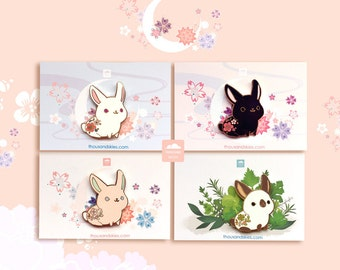 Rabbit Pin Bundle Deal (white, pink, black, himalayan)