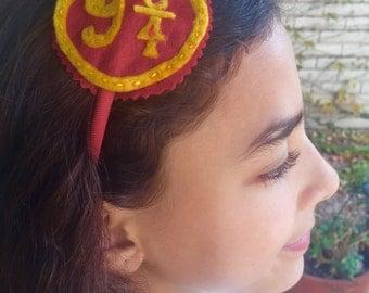 Harry Potter, Hogwarts Express, Platform Nine and Three Quarters, 9 3/4  felt headband