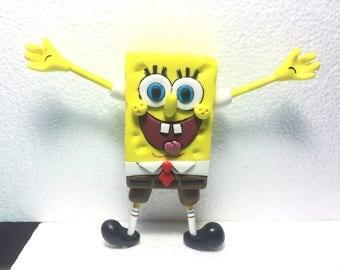 Spongebob & Rainbow Fondant Cake Topper