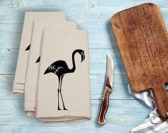 Flamingo Tea Towel Flour Sack Towel Kitchen Towel