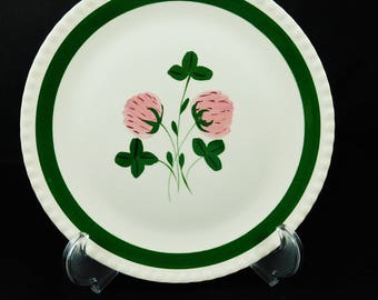 Blue Ridge Pottery, Sweet Clover Pattern, Dinner Plate, Marked 10 D, Southern Potteries, Inc.