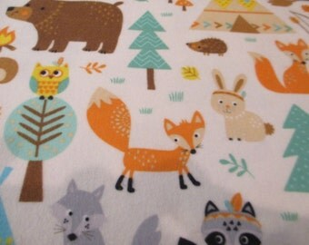 Quilting Weight Cotton Flannel Fabric by Northcott Teepee Time 1 yard