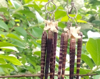 Sea Urchin & Rattlesnake Earrings
