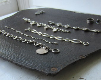 Dark Brown Jewelry Display Board - Antique Embossed Fiberboard Chair Seat - Flat Necklace / Bracelet / Ring Backdrop - Ready to Ship