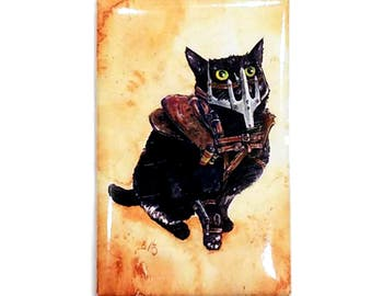 Mad Diesel Magnet: Watercolour Black Cat Mad Max
