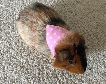 Bunny rabbit / guinea pig bandana - dotty or stripey pastels