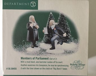 Members of Parliament Dickens Village Department 56 Village Accessory Set of 2