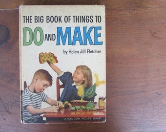 Things To Do and Make Vintage Children's Craft Book
