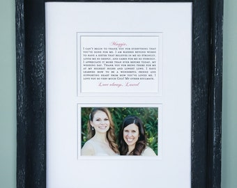 Wedding Gift | Maid Of Honor Speech | Gift for Maid Of Honor | Wedding Picture Frame | Briadal Party Gift