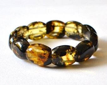 Baltic Amber bracelet, Multicolored Amber Jewelry, amber bracelet, Yellow, Gold, Brown