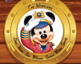 Captian Mickey Mouse Custom Personalized Disney Cruise Line Stateroom Door Magnet