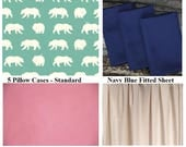 5 Standard Pillow Cases - 3 Fitted Sheets