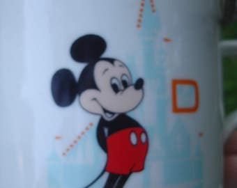 Retro Vintage Mickey Mouse Ceramic mug, Walt Disney World, Magic Kingdom, made in Japan