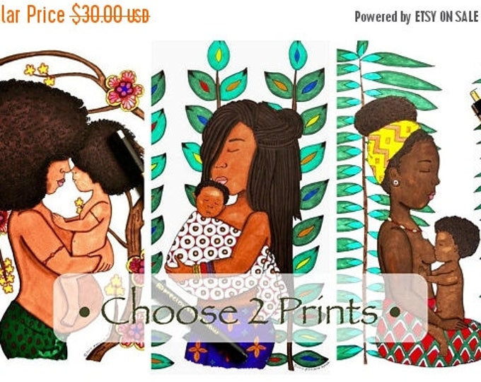 African Mother & Child • Choose Two 9x12 Prints