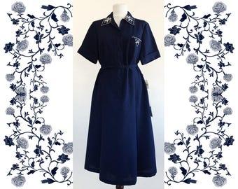 """1970's Vintage Deadstock NOS  """"Bernd Exquisit"""" Embroidered Dress"""
