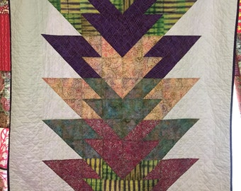 Home Grown - Batik Throw Quilt