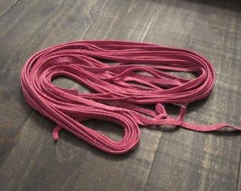 Violet Suede Lacing ~ 1/4 inch wide