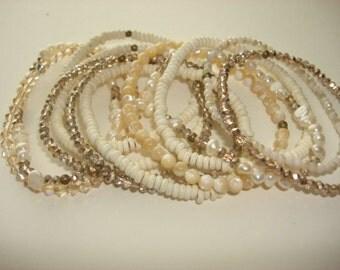 Multi Strand Stackable Beaded Bracelet
