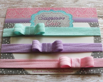 Baby Headbands, Baby Bow Headband, Infant Headband, Newborn Headband, Headband, Elastic Bow Headband set