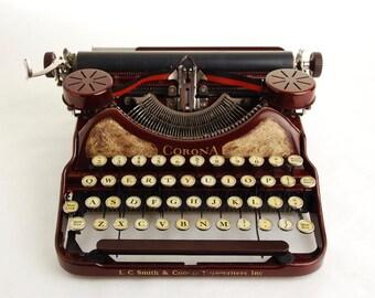 Red Gold Typewriter, Corona Four