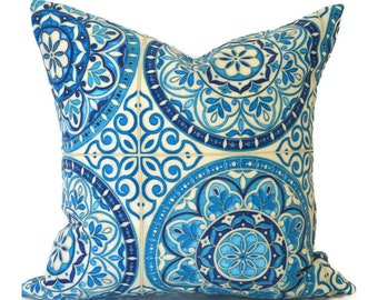 Blue Outdoor Pillows ANY SIZE Outdoor Cushions Outdoor Pillow Covers Decorative Pillows Outdoor Cushion Cover Best Pillow Color Wheel Indigo