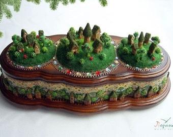 """Treasure-box. """"Little Village"""". Unique Box"""