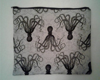 READY TO SHIP! Octopus Zipper Pouch