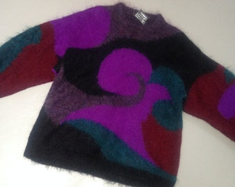 Vintage rad 80s 90s Freesize Oversize Jumper Sweater mohair & wool