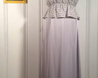 1970's Silver Grey Dress