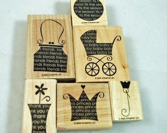Retired Stampin Up Stamp Set Oh My Word