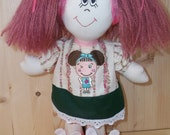 How to Make Rag Doll - Cloth Doll Pattern PDF Rag Doll Sewing Pattern. Doll Hair Tutorial (Ponytails). Step by step (21 photo). Easy to do!