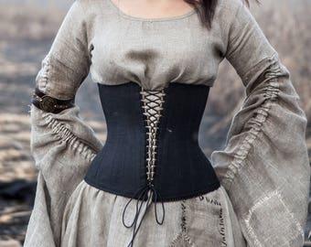 Corset Belt; Corset; Black Corset; Medieval Corset; Halloween corset