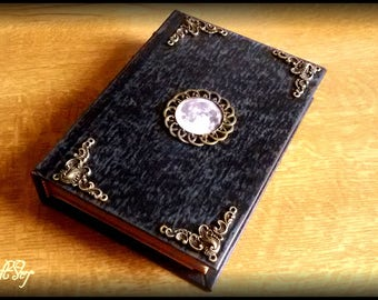 MOON book of shadows or diary for witches - small size 16,2x11,8 centimeters
