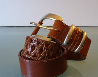 Vintage Made in Italy La Salamandra Leather Belt