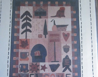 Welcome Applique Wall Quilt Pattern