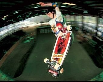 Jeff Grosso Skateboard Photograph - 18x24 inch Color Photo - Grant Brittain Photo