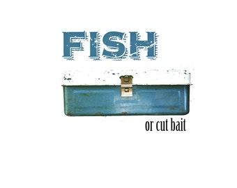 Vintage Fishing Tackle Box - display prop - cabin style - flea market style - repurposed - adventure - distressed - box - industrial storage