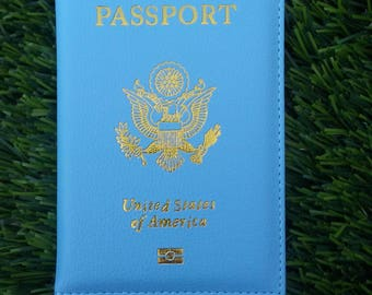 HOT SALE.!Baby Blue passport cover !