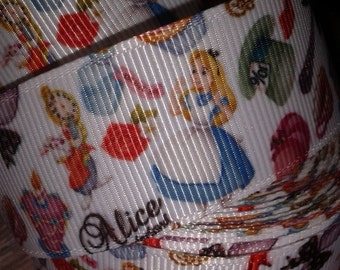 Alice in Wonderland #3 Grosgrain Ribbon