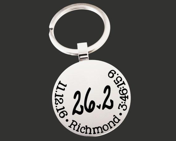 26.2 Keychain | Marathon Keychain | Marathon Gifts | Runner Gift | Marathon Gift | Custom Personalized Keychain | Korena Loves