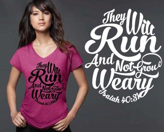 Half Marathon | Marathon | Runner Gift | Marathon Gift | Isaiah 40:31 | Christian Gifts | Personalized T-shirts | Korena Loves