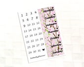 Cherry Blossom Date Cover Stickers For Your Planner