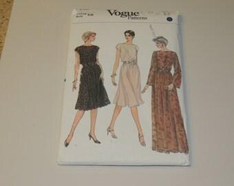 Uncut 6-8 VOGUE 8183 Dress Pattern