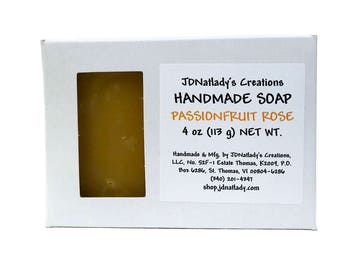 Handmade - Fragrant - Soap - Passionfruit - Rose - Vegan - Cold Process - Scented - Soap  - Tropical - CP soap